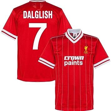 000f67f85a9 1982 Liverpool Home Retro Shirt + Dalglish 7 - S  Amazon.co.uk ...
