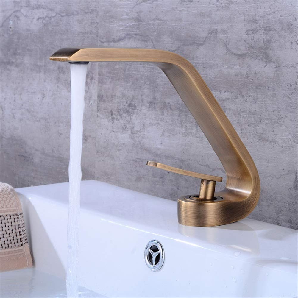 Basin Taps Antique Basin Faucet European Bathroom Wash Basin Faucet Under Counter Basin Hot and Cold Faucet Creative Faucet