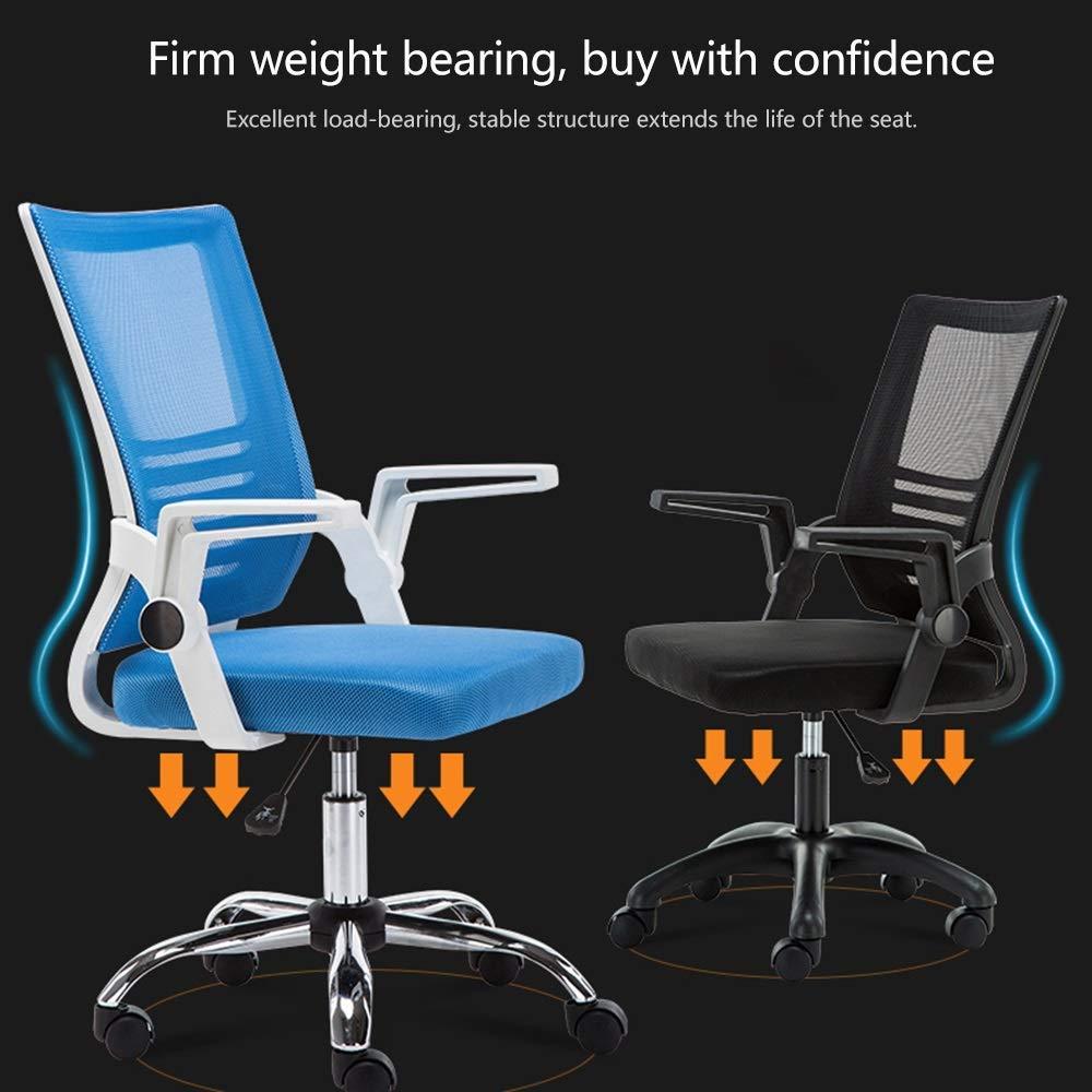 JIEER-C stol datorstol nät ergonomisk hög rygg datorstol med justerbart armstöd stor storlek tyg spelstol höjd justerbar svängbar spelstol, orange Orange