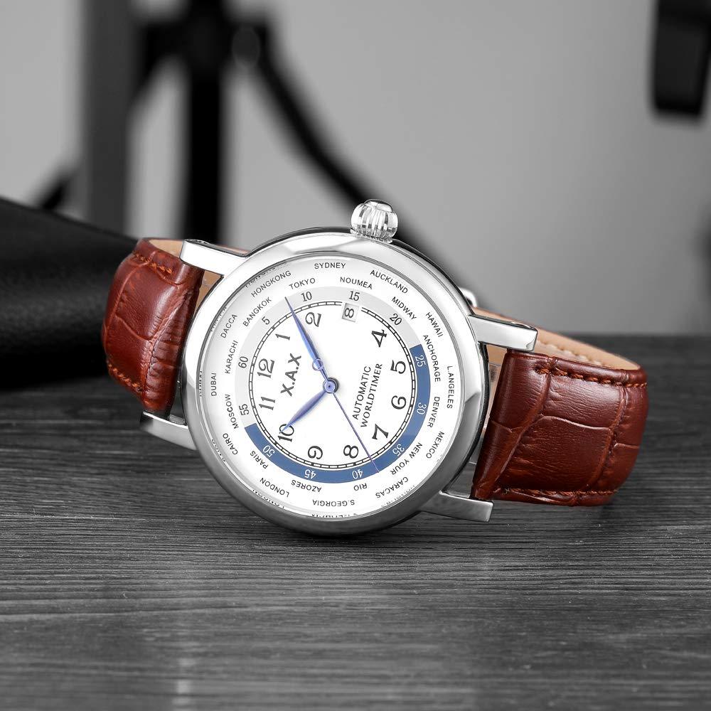 Automatiska klockor, 45 mm, mekaniska klockor, självuppdragande, vattentäta klockor, manliga D D