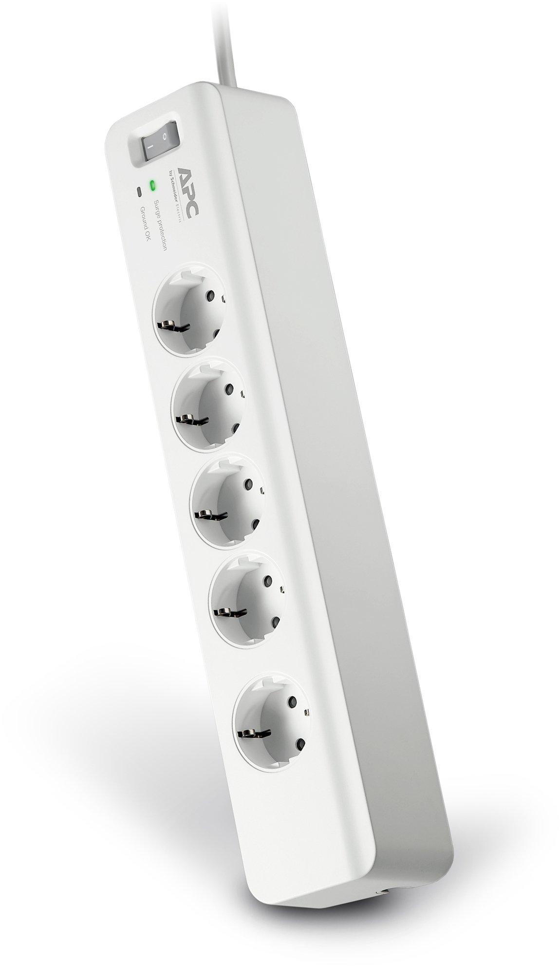 APC Surge Arrest Essential - PM5-GR - Regleta con protección contra subidas y picos de tensión, 5 tomas de salida product image