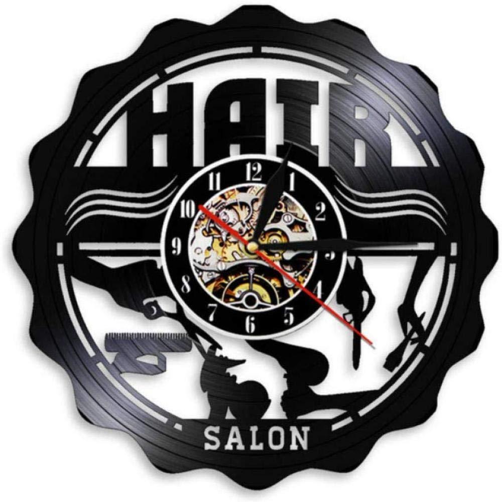 Barber Shop Decor Hair Salon Wall Art Vintage Vinyl Record Clock Best Gift Items