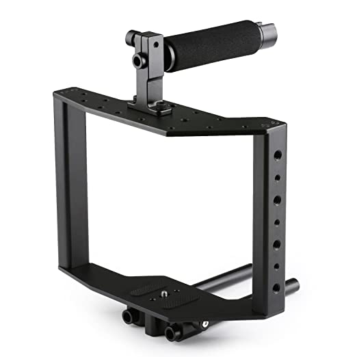 Movo Dual Shoe Riser Bracket to Mount Microphones Video Lights Monitors and More to DSLR Cameras
