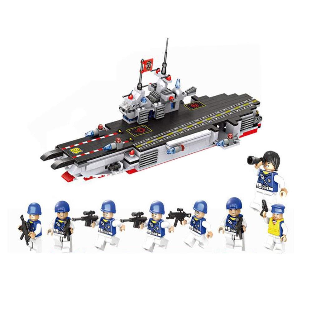 Angle Kompatibel mit Lego Flugzeugträger-Team Modell 8 in 1 Militärpolizei Stadt montiert Bausteine Spielzeug Puzzle montiert Junge 6 +