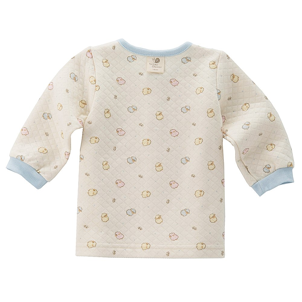 Natural Quilted Pajama Set Long Sleeve Baby Boy and Girl 100/% Certified Organic Cotton