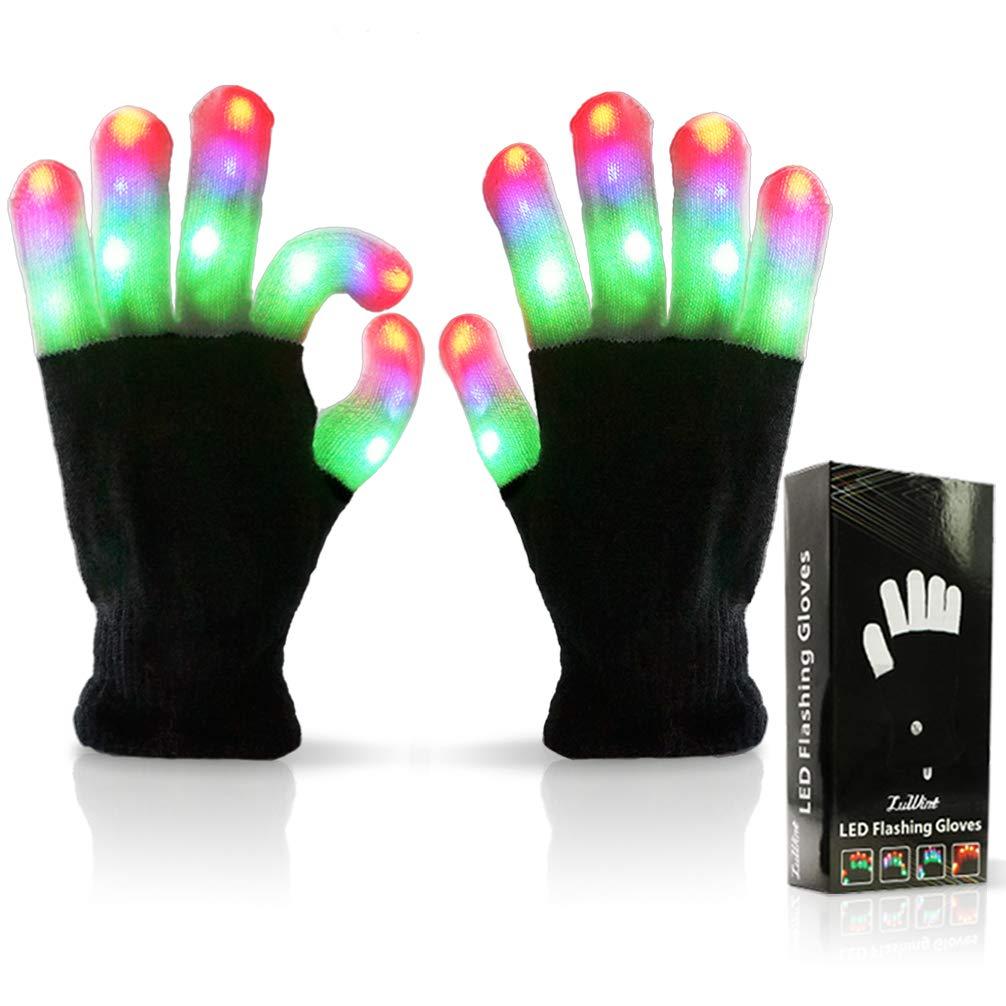 Luwint Children LED Finger Light Gloves