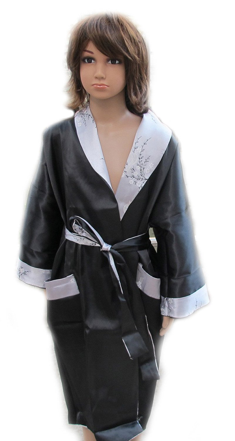 CHILDREN BATH ROBE JAPANESE KIMONO SATIN AND SILK WITH COMPLIMENTARY by eThaiComplex (Image #4)
