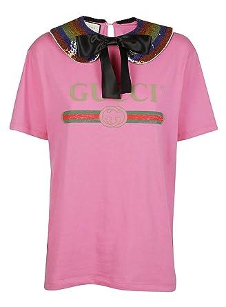 841805df2b7 Gucci Women s T-Shirt Pink Rose - Pink - 12 (M)  Amazon.co.uk  Clothing