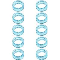 10 Pedazos Anillo de Dedo de Caucho Antideslizante Anillo de Tijera de Goma Anillo para Tijeras - Azul
