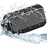 Bluetooth Speaker, Portable Wireless Sound Box w/Mic, 2x10W Drivers, HD Sound & Enhanced Bass, IPX5 Waterproof, 12-Hour Playtime and 4400mAh Power Bank for Party/Beach/Camping/Home