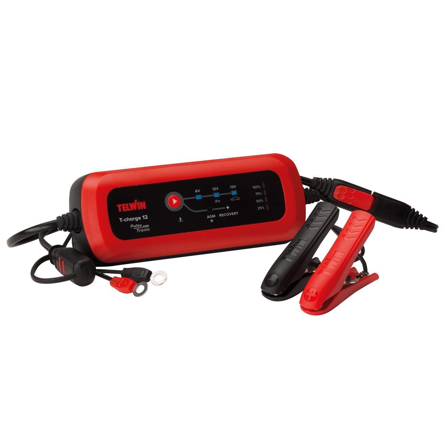 Rosso Telwin 807567 T-Charge 12 Caricabatterie e Mantenitore Elettronico 6//12V