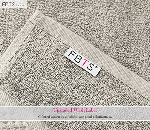 FBTS Prime Luxury Bath Towels Sets Large 6 Pack Hotel Cotton Towel Set Soft Thick for Bath and Spa Grey by FBTS Prime (Image #4)