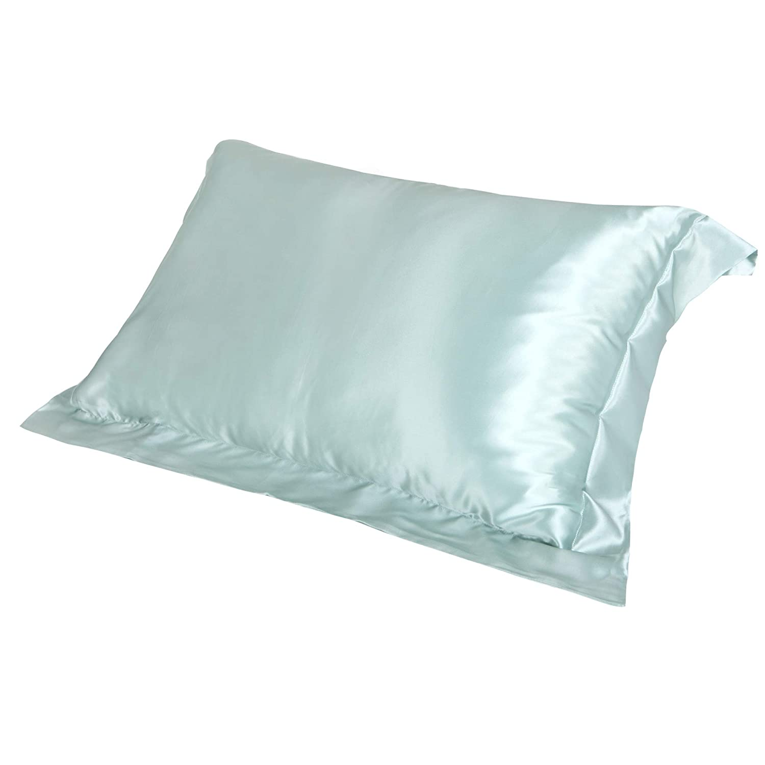 100% Charmeuse Silk Pillowcase Oxford Style (BLACK) 50 cm x 75 cm + 7cm Border - RRP £45 JASMINE SILK