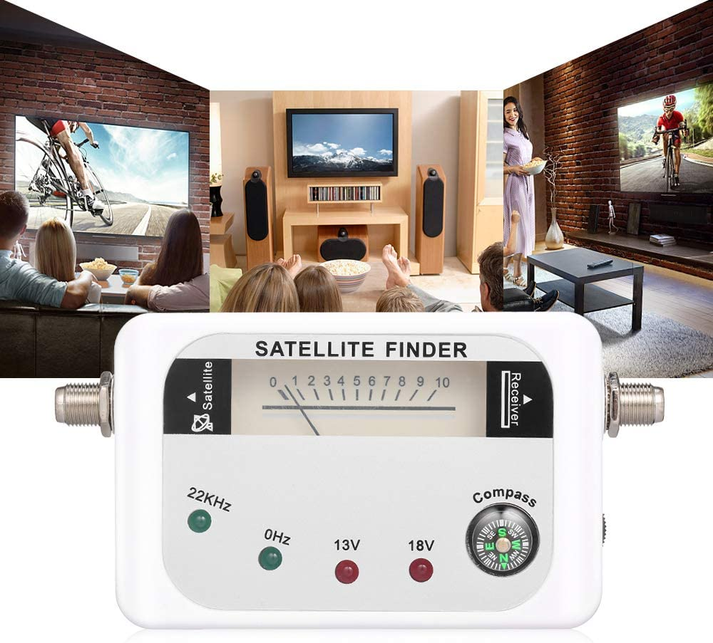 Artboy 9508 Satellite Signal Finder Digital Signal Finder TV Receiver with Compass Pointer LED Indicator Lamp