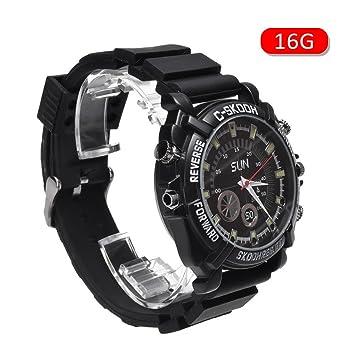 Reloj inteligente smartwatch impermeable con 32 GB/16GB, visión nocturna, mini cámara HD 1080P oculta., 16G: Amazon.es: Deportes y aire libre