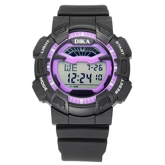 Resistente al agua relojes digitales estudiante/ reloj luminoso/Reloj deportivo multifuncional-C