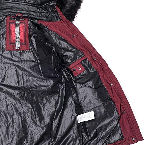 ... Navahoo Damen Designer Winter Jacke Warmer Mantel Lang Parka Gefüttert  B304 Bordeaux 2IHn5J ...