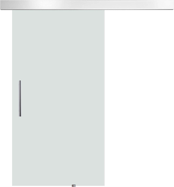HOMCOM Puerta Corredera 205x102.5cm Puertas Correderas Deslizantes Cristal sin Obra