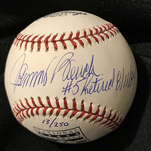 Johnny Bench Retured Jersey #5 8-11-84 #13/250 PSA/DNA Auto Cincinnati Reds