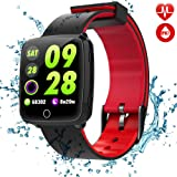 TagoBee TB09 IP67 Smart Watch Fitness Tracker Support Blood Pressure Monitoring Notifications Remind Activity Tracker Compatible With iphone and Android(red)