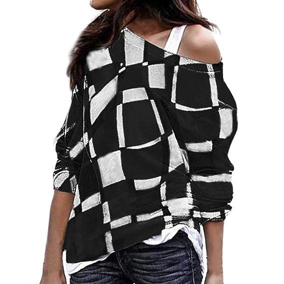 Blusa Mujer, BaZhaHei Blusas Camisetas de Gasa Ropa de Mujer Suéter Jersey Camisas Manga Ajustable