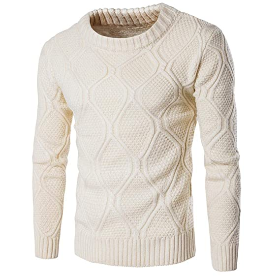 WANG O Neck Men Winter Pullover Wool Sweater Slim Big Boys