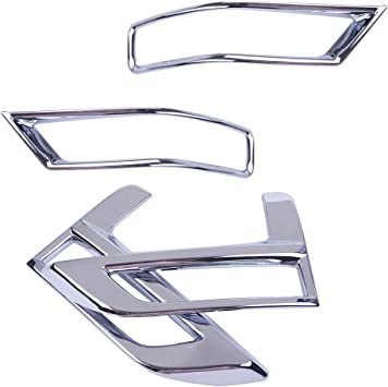 Chrome Front Headlights light lamp Cover Trim For Nissan Rogue X-Trail 2017-2018