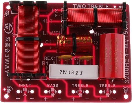 P Prettyia 150W Divisor de Frecuencia de Audio Subwoofer 3 Vías