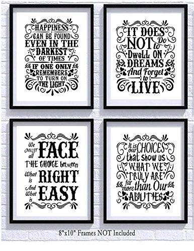 harry potter quotes and sayings art prints set of four import it all
