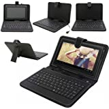 REALMAX® 9 Inch PU Leather Keyboard Stand Case Cover for Android Tablet with Micro USB
