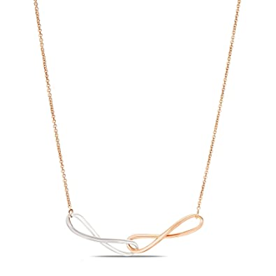 Buy Mia by Tanishq 14KT 2 Colour Gold Necklace for Women Online at