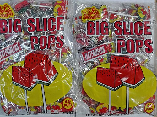 Big Slice Watermelon Pops 2 Bags 96 count (From Candy World) -