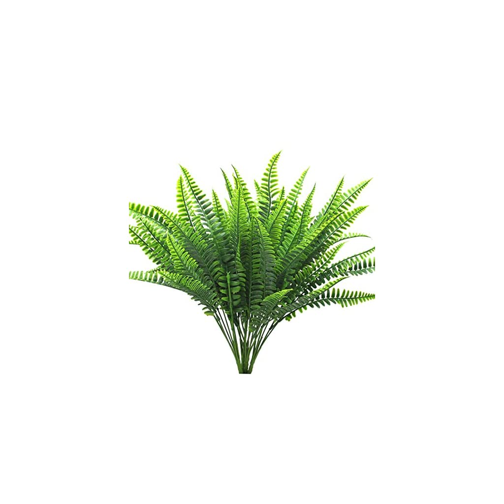 Bird-Fiy-4Pcs-Artificial-Shrubs-Boston-Fern-Bush-Plant-Greenery-Bushes-Fake-Outdoor-Plant