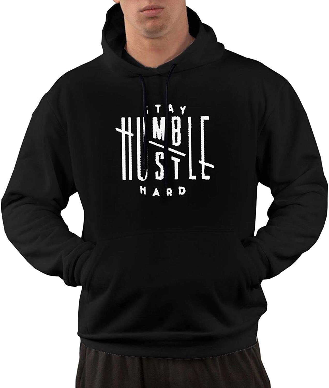 Themonsta Humble Stay Hard Logo - Sudadera con capucha y bolsillos para hombre