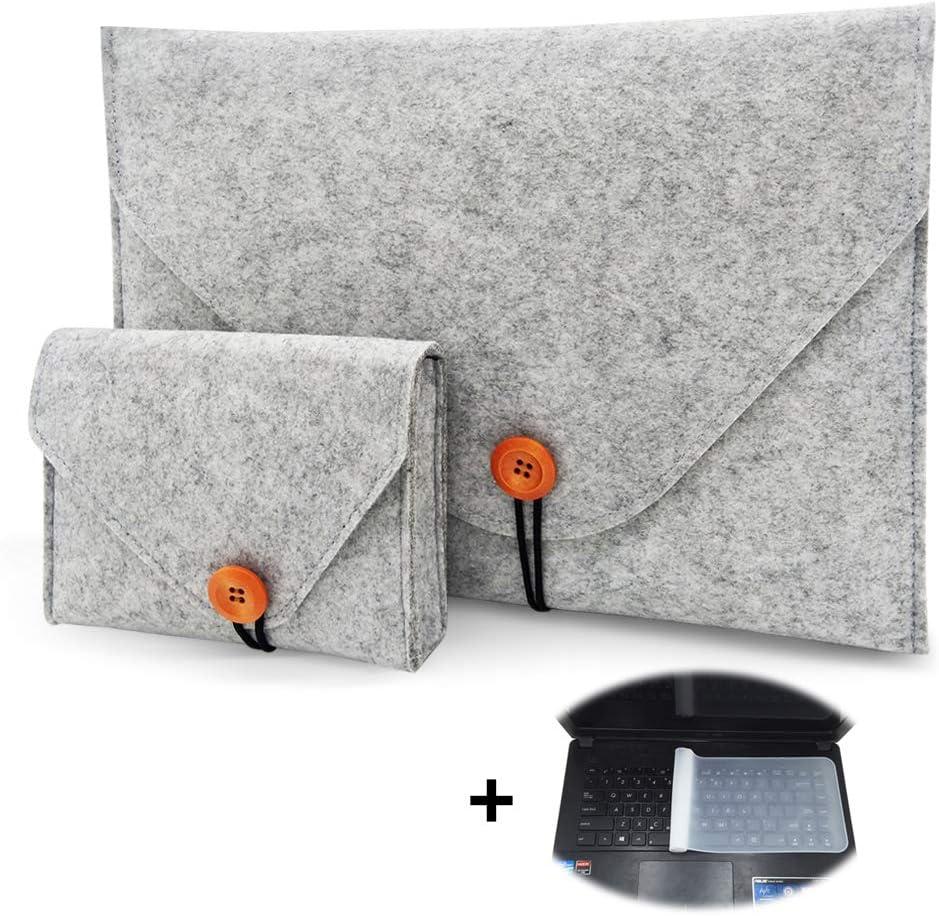 Felt Laptop Sleeve, 13 13.3 14 Inch Protective Case Bag Compatible for New MacBook Pro, MacBook Pro Retina, MacBook Air, 12.9