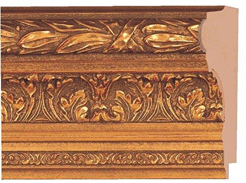 Picture Frame Moulding (Wood) 18ft Bundle - Ornate Antique Gold Finish - 4