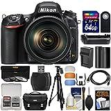 Nikon D750 Digital SLR Camera & 24-120mm f/4 VR Lens with 64GB Card + Case + Battery & Charger + Grip + Tripod + Filters + Kit