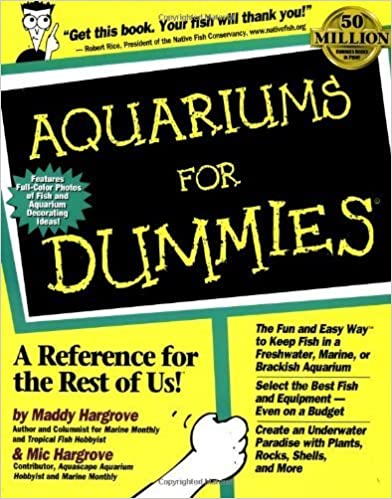 Aquariums For Dummies by Maddy Hargrove (1999-08-19)