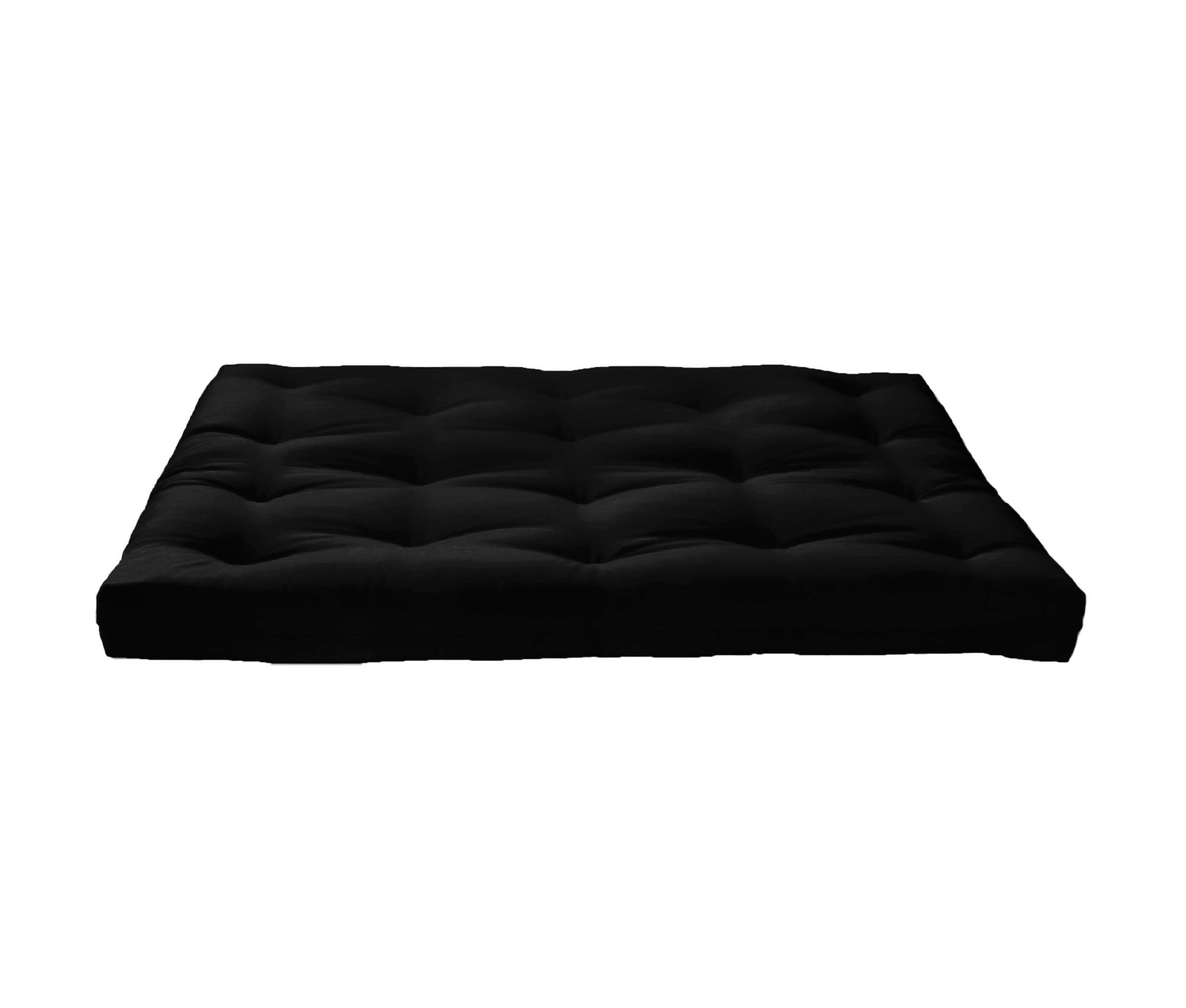 Artiva USA Home Deluxe 8'' Futon Mattress with Inner Spring Sofa bed, Full, Black by Artiva USA