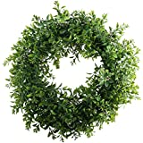 "Nahuaa Front Door Wreath, 15"" Artificial Eucalyptus Wreath Spring Farmhouse Garland Home Office Housewarming Gift Greenery Decor"