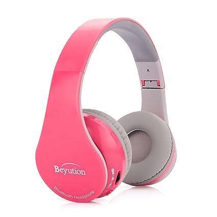 Beyution bt513 Wireless Built in Mic Bluetooth Headphone - Retail Package -  Pink