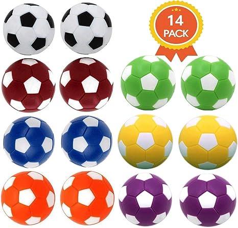 Qtimal - Juego de 12 Bolas de Repuesto para futbolín de Mesa de fútbol, 36 mm: Amazon.es: Deportes y aire libre