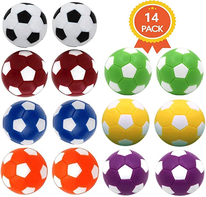 36mm 6 Pack Foosball Balls Official Replacement Balls for Table Soccer Games 1.42 in