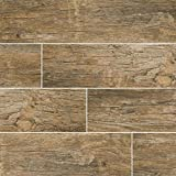 MSI Stone NREDNAT6X24 Redwood Natural Wood Look Tile with Matte Finish, 6'' x 24'', Brown