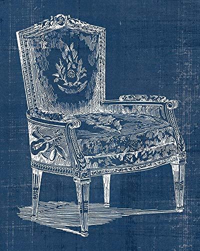(Antique Chair Blueprint I by Vision Studio 9
