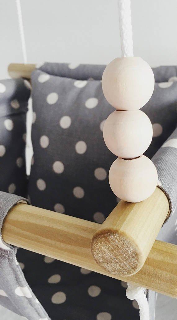 Indoor/Outdoor Polka Dot Baby and Toddler Swing, Nursery Decor