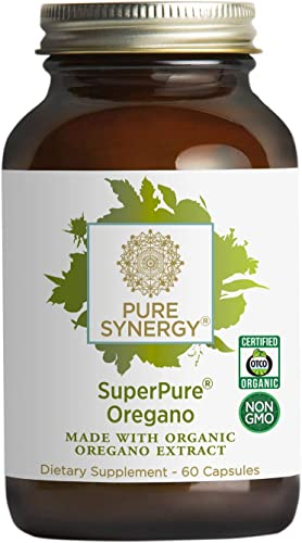 Pure Synergy SuperPure Oregano Extract 60 Capsules Made with Organic Oregano for Immune Health Support