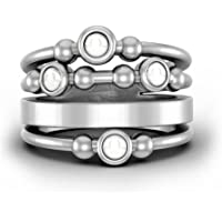 Wide Band Opal Ring Antique Statement Thumb Rings Stacking Rings Women