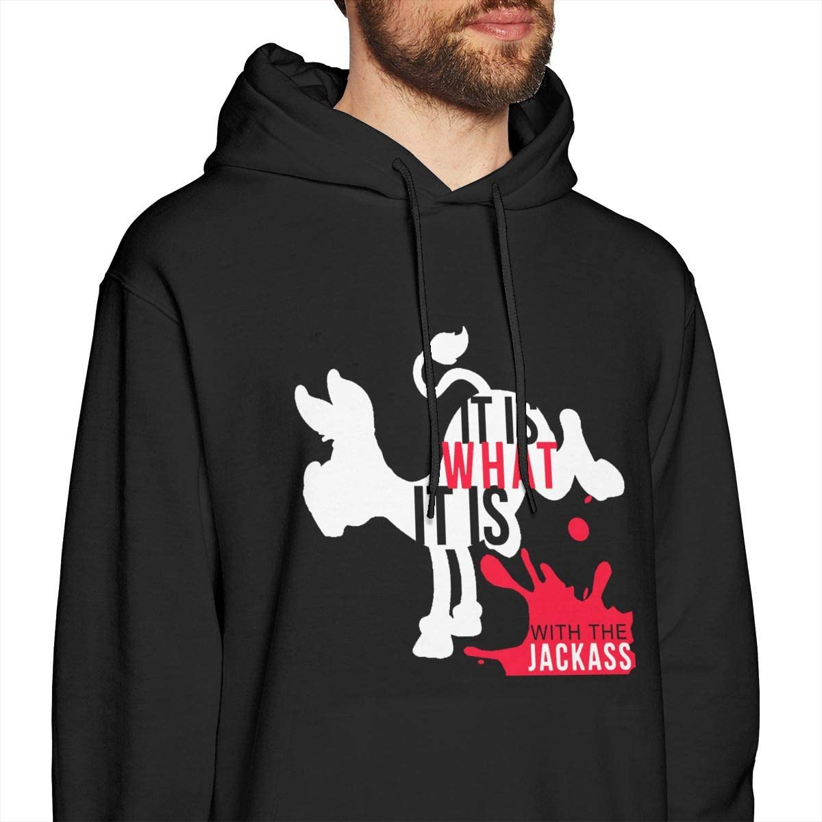 JamieBrown Men It is What It is with The Jackass Sweaters Black with Mens Sweatshirts