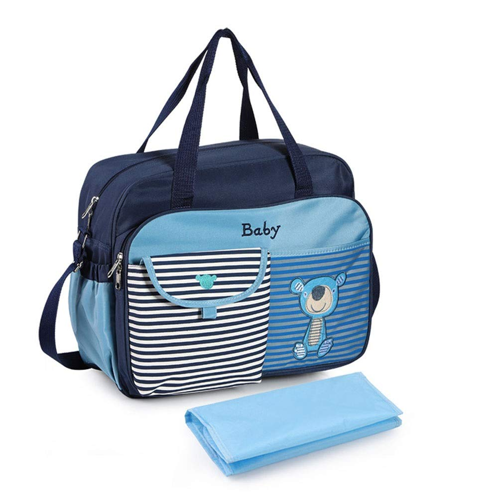DHUYUN Stroller Organizer Universal Stroller Organizer Bag Tote Purse Maternity Bag for Mom with Changing Pad 3 Colors Parents Stroller Organizer Bag (Color : Blue, Size : Free Size)